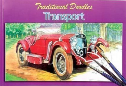 ADULT COLOURING COLLECTION DOODLES Transport