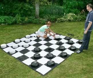 DELUXE GIANT OUTDOOR DRAUGHTS SET 2
