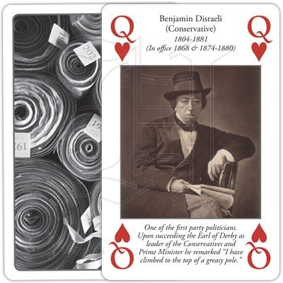 HISTORY OF PRIME MINISTERS PLAYING CARDS 2