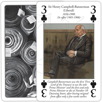HISTORY OF PRIME MINISTERS PLAYING CARDS 3