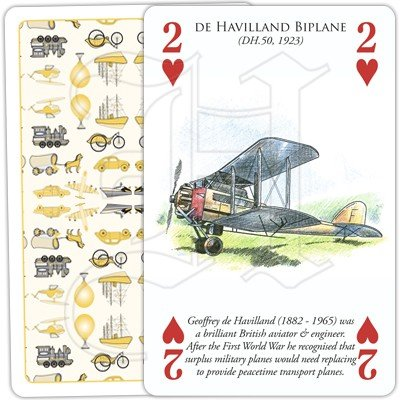 HISTORY OF TRANSPORT BY AIR PLAYING CARDS 2