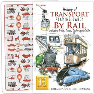 HISTORY OF TRANSPORT BY RAIL PLAYING CARDS 1