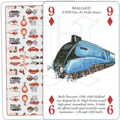 HISTORY OF TRANSPORT BY RAIL PLAYING CARDS 2