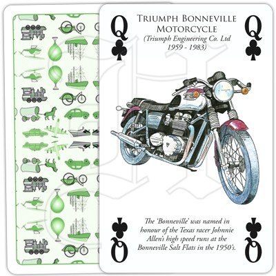HISTORY OF TRANSPORT OVERLAND PLAYING CARDS 3
