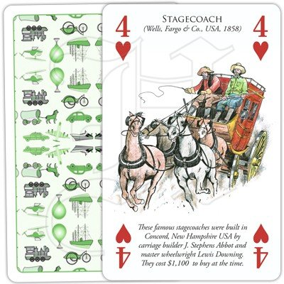 HISTORY OF TRANSPORT OVERLAND PLAYING CARDS 4