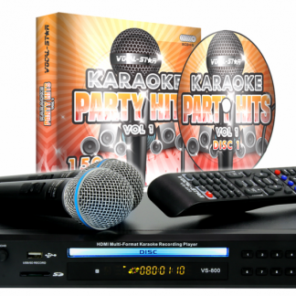 KARAOKE SET WITH 150 PARTY SONGS 1