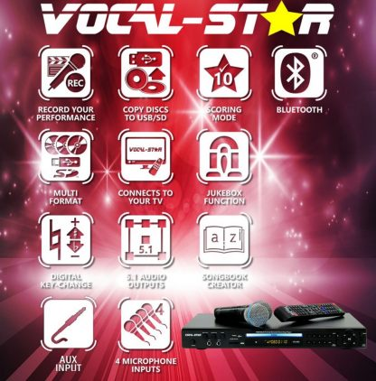 KARAOKE SET WITH 150 PARTY SONGS 2