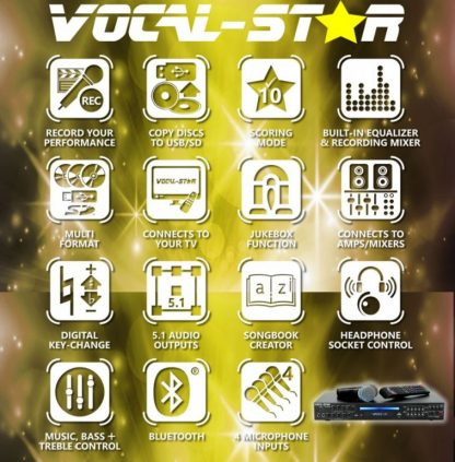 KARAOKE SET WITH 150 PARTY SONGS 6