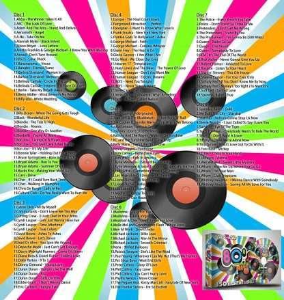 Karaoke Disc Pack CDG 8 Discs 150 Songs 80s