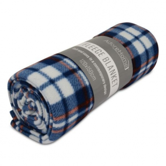 LIGHT AND WARM FLEECE BLANKETS BLUE CHECK