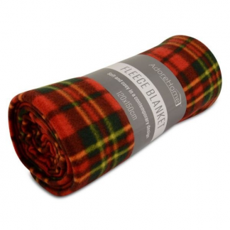 LIGHT AND WARM FLEECE BLANKETS RED CHECK