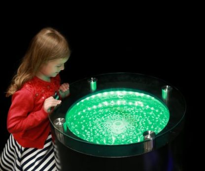 ROUND BUBBLE TABLE COLOUR CHANGING 1