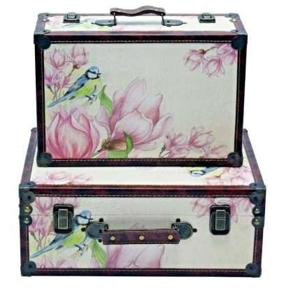 Vintage Suitcase Floral
