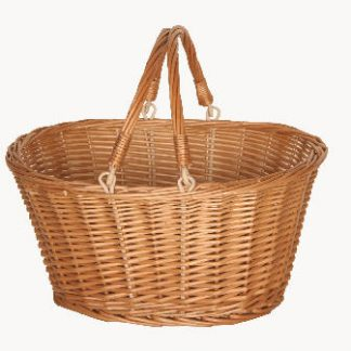 Willow foldinghandle basket
