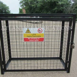 BBQ GAS CYLINDER CAGE WITH SIGN