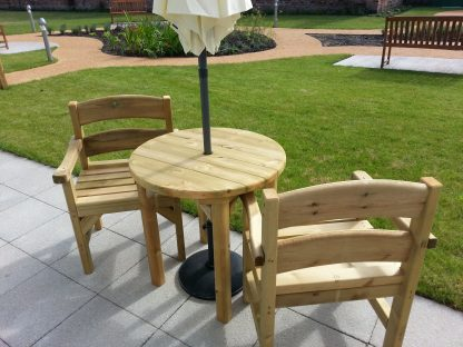 Highty Wooden Chairs and Round 80cm Table.jpg 2
