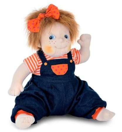 dementia doll Anna waving