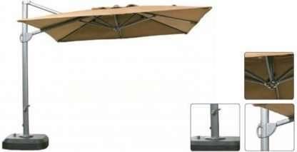 Aluminium crank parasol 3m Cantilever Square